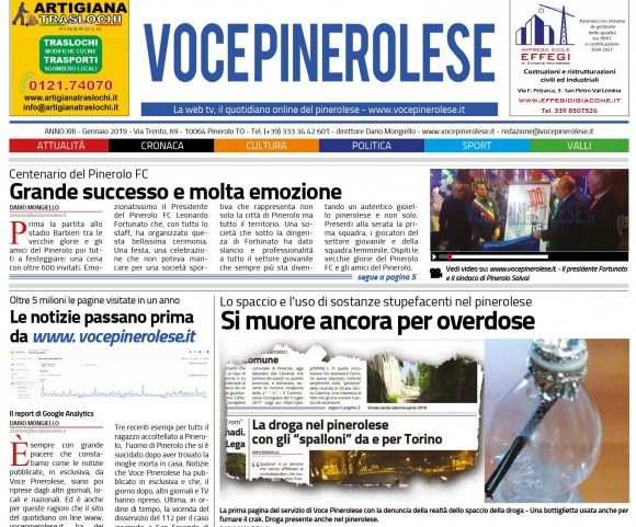 Voce Pinerolese Gennaio 2019